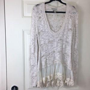 Cotton Emporium, Long Sleeve Sweater, Size XS.